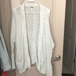 Free people Cream open-knit cardigan L